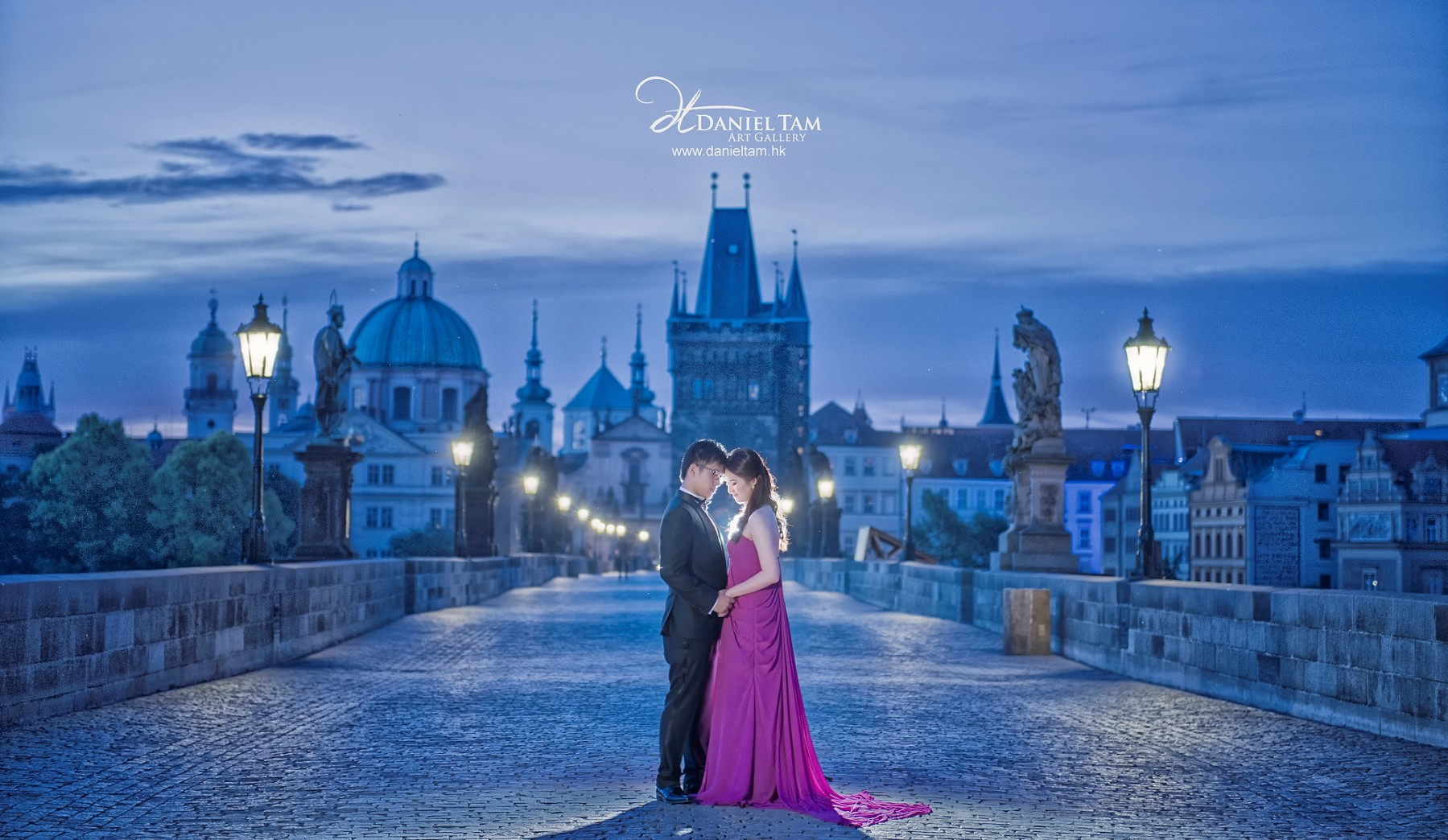 blue prague prewedding