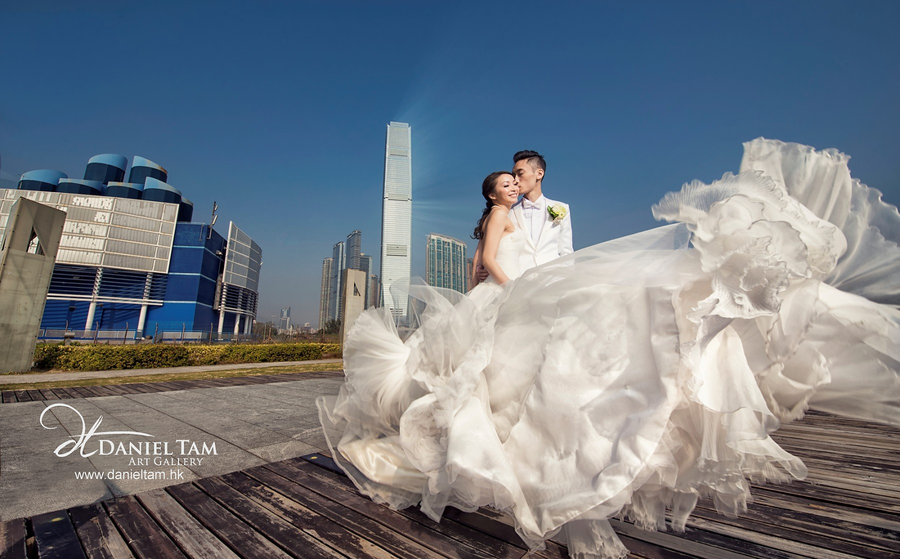 Dancing Gown, hong kong wedding day
