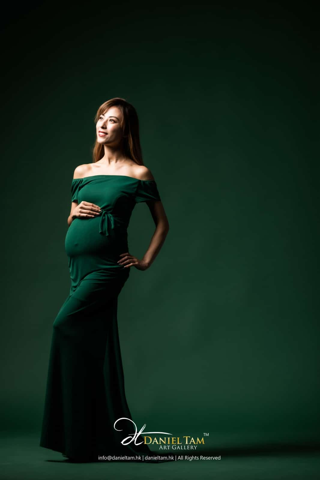 green maternity gown 93405788934
