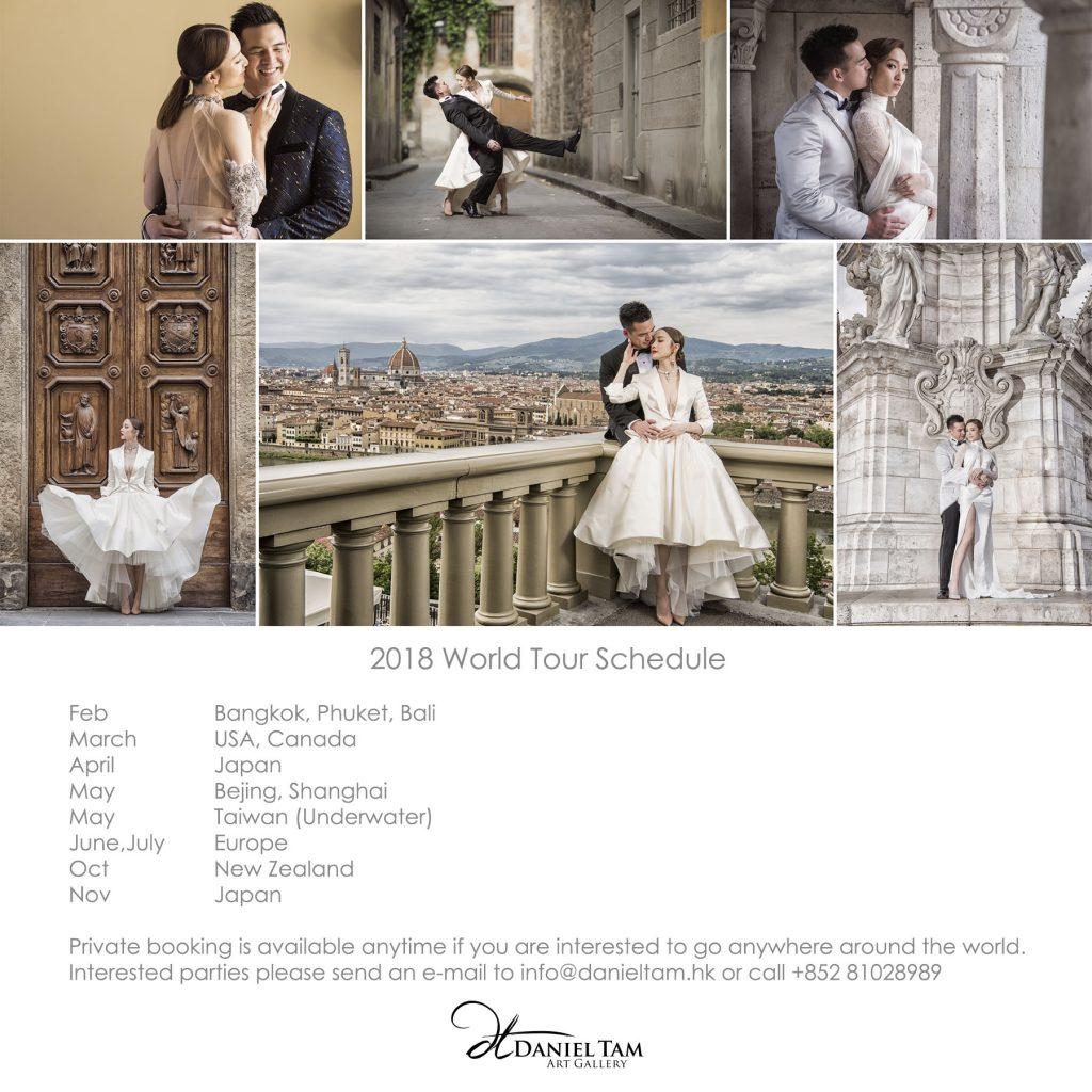 overseas pre wedding 2018 schedule