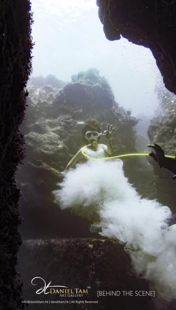 behind the scene underwater by daniel tam