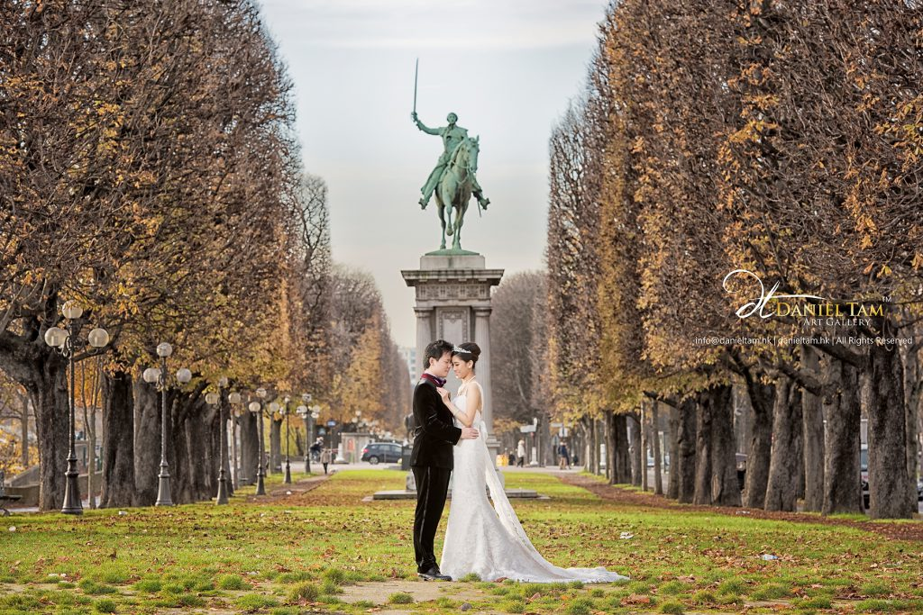Paris Prewedding, Autumn, Tree Color